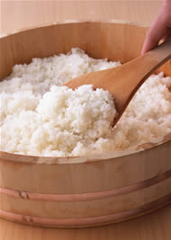 ... Food Information > Rice, the Japanese staple food > Cooking Sushi rice