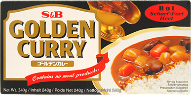 f1044 golden curry hot 240g s&b V2